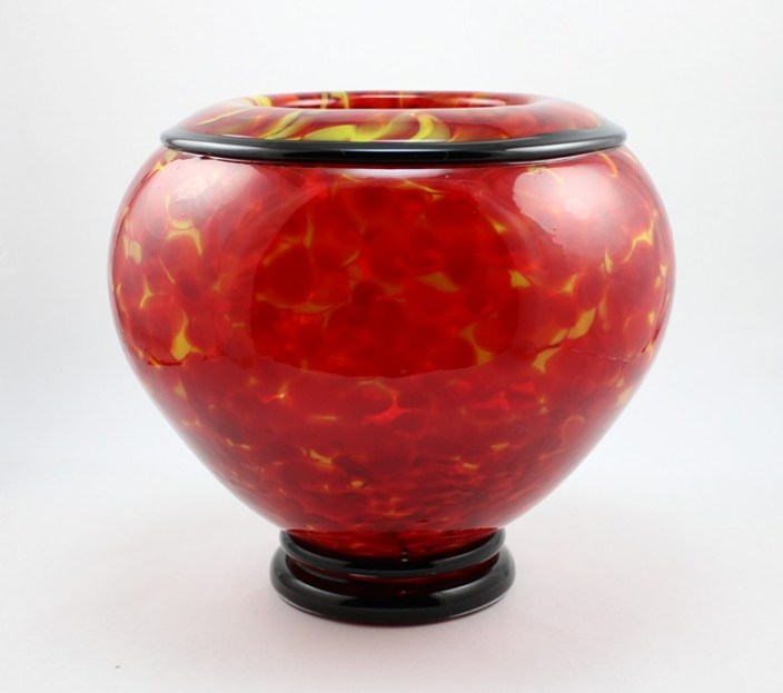 Red Hot Rolled Bowl