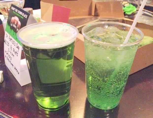 Green Beer and Green Ginger Ale