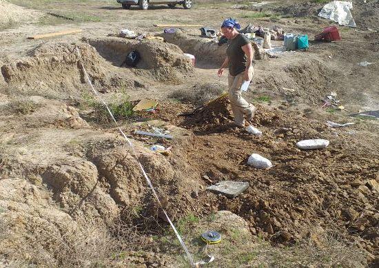 Uitmeten van de laatste botten voor het intekenen Triceratopsdig