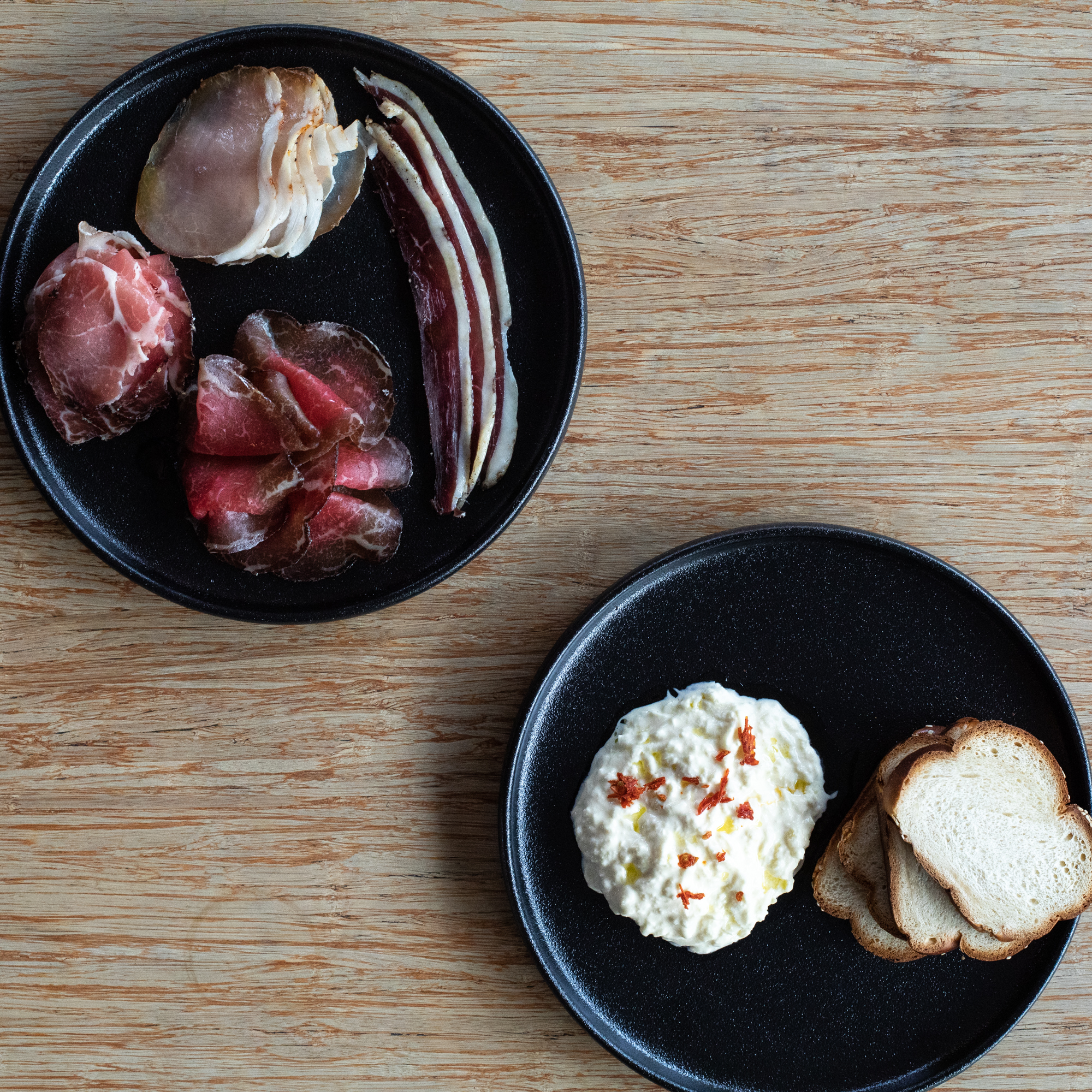 Cured Meats, Cheese and Bread