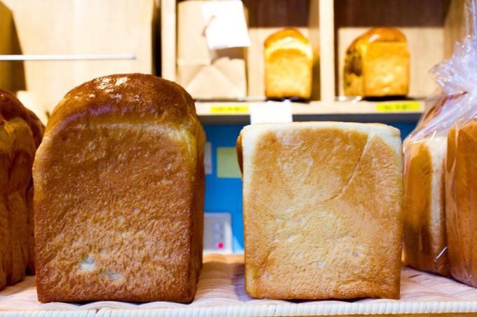 オパンの山型食パン、角型食パン(2016.11.17)