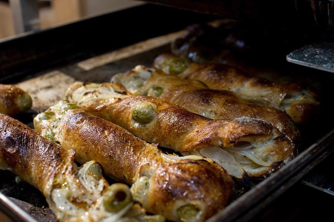 オパンの玉ねぎとオリーブのフランスパン(2017.09.19)