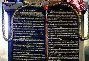 Illustration de la déclaration des droits de l'Homme et du Citoyen de 1789
