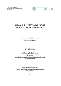 Dynamic privacy adaptation in ubiquitous computing