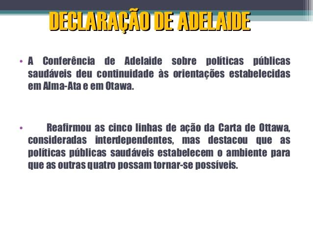 Declaração de Adelaide