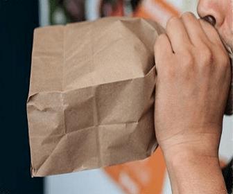 Respirar saco de papel