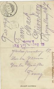 Feldpostkarte Erster Weltkrieg Große Wäsche