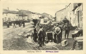 Feldpostkarte Erster Weltkrieg Stenay