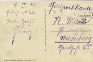 Feldpostkarte Erster Weltkrieg Conflans