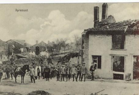 Feldpostkarte Erster Weltkrieg Apremont