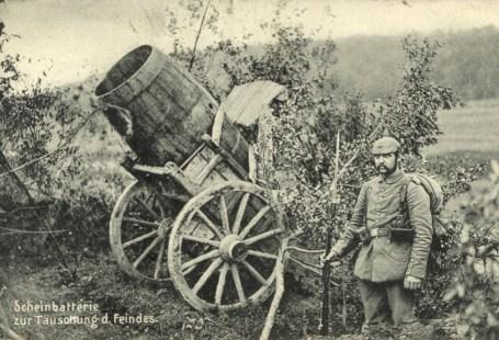 Feldpostkarte Erster Weltkrieg Scheinbatterie