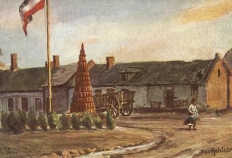 Feldpostkarte Erster Weltkrieg Ausbläser