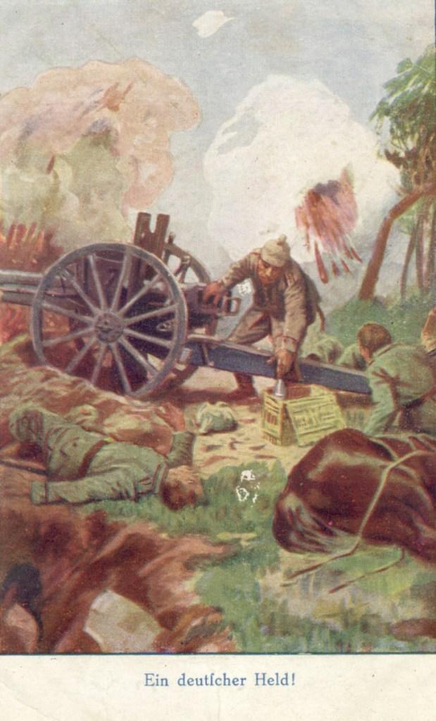 Feldpostkarte Erster Weltkrieg Ein deutscher Held