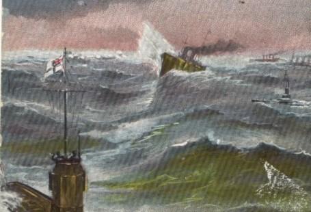 Feldpostkarte Erster Weltkrieg Unterseeboote