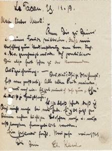 Feldpostbrief Leutnant Kaul 28.12.1917 01