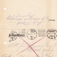 28.03.1918: Brief an einen Sterbenden
