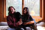 George and Hillary Atiyeh and their dog.
