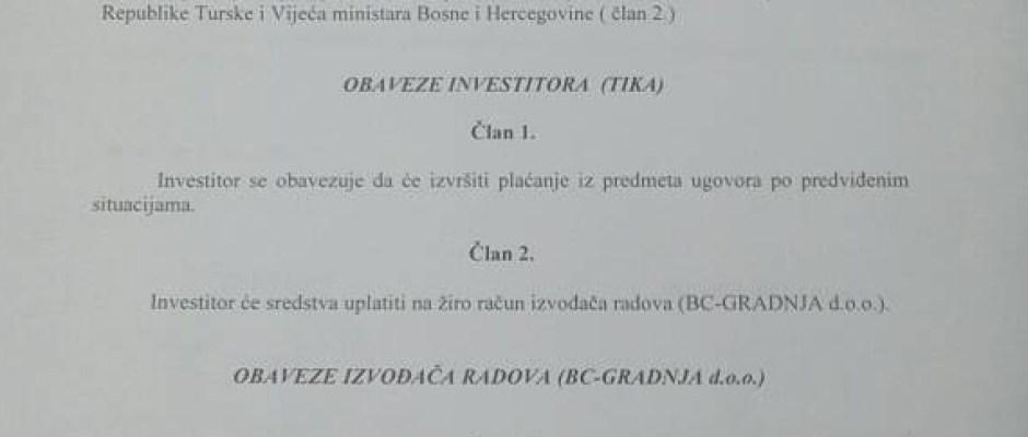 TIKA i BC-Gradnja potpisali ugovor za završetak izgradnje škole u Pištalinama vrijedan 400 hiljada KM