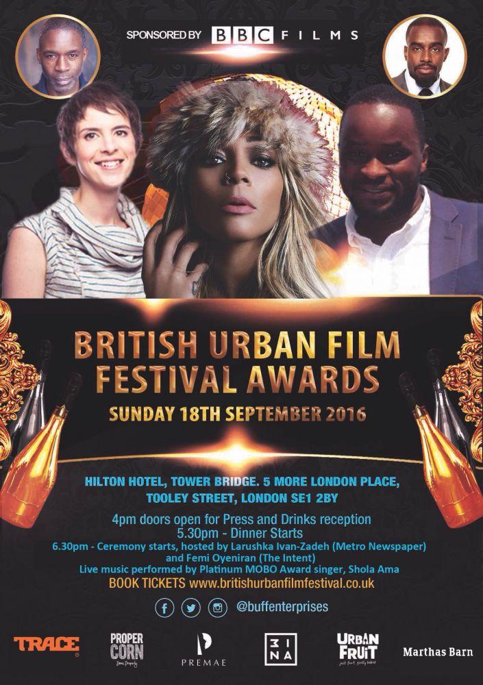 SHOLA AMA headlines the BUFF Awards 2016, sun 18th Sep