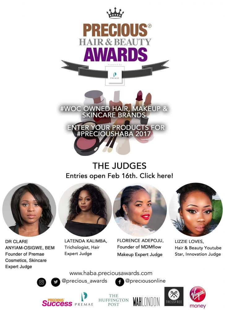 Hair and Beauty brands set for recognition at PRECIOUS Hair &  Beauty Awards powered by Premae