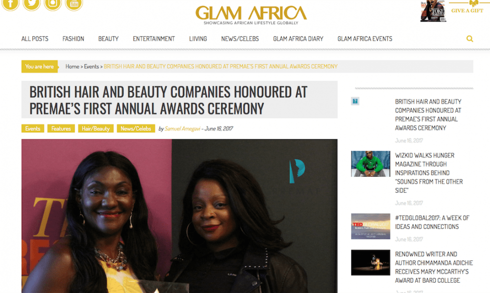 Glam Africa Mag attended Premae's annual awards championing female-led brands
