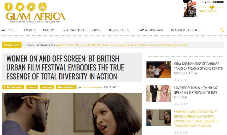 @glamafricamag: @buffenterprises female films: @backtonaturaldoc @creamshortfilm @josouthwell @potatopotahto17 @chocolatefilms @VickiKisner