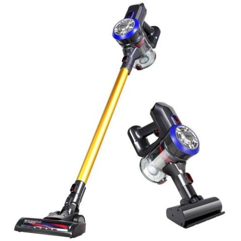 25% off Dibea D18 Handheld Vacuum Cleaner with Motorized Brush – GOLD EU PLUG Gearbest Coupon [Israel-Arabic]