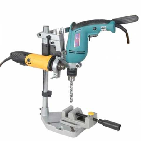 34% off Creative DIY Electric Drill Stand – SILVER DOUBLE HEAD Gearbest Coupon Promo Code