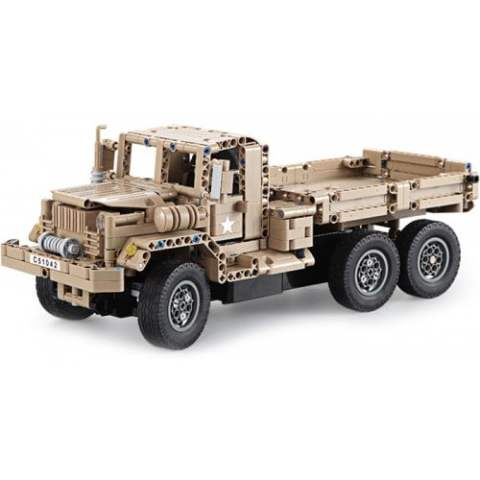 41% off CaDA DIY Assembled Simulation Military Truck Building Block Toy – LIGHT KHAKI Gearbest Coupon Promo Code