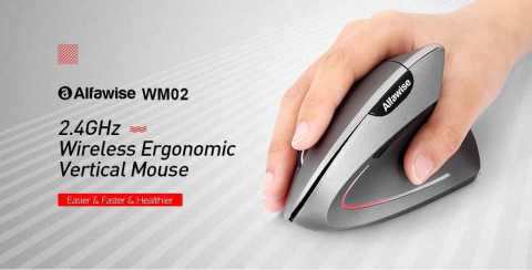 Alfawise WM02 Vertical Wireless 2.4GHz Mouse Gearbest Coupon Promo Code