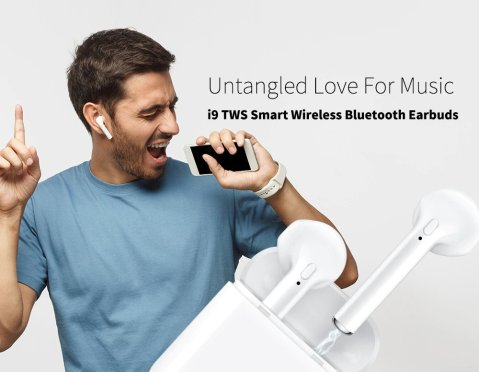 i9 TWS Smart Wireless Bluetooth Earbuds Gearbest Coupon Promo Code [Israel-Middle East]