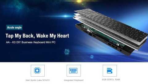 Acute angle AA K3 - Acute angle AA - K3 DIY Business Keyboard Mini PC Gearbest Coupon Promo Code