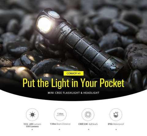 Convoy H1 flashlight - Convoy H1 CREE XML2 Flashlight Gearbest Coupon Promo Code