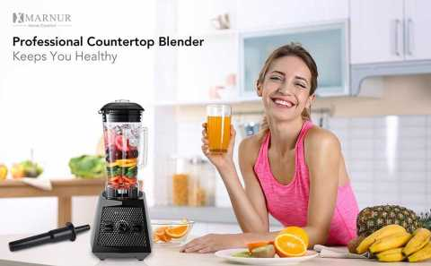 MARNUR 1500W Smoothie Maker 1 - MARNUR Professional Countertop Blender Amazon Coupon Promo Code