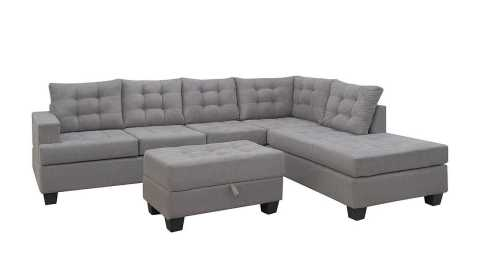 Merax Sofa 3 Piece Sectional Sofa - Merax. Sofa 3-Piece Sectional Sofa with Chaise and Ottoman Amazon Coupon Promo Code