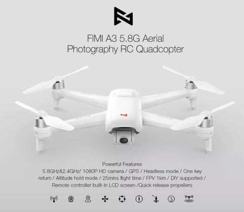 Xiaomi FIMI A3 RC Drone with Two Batteries