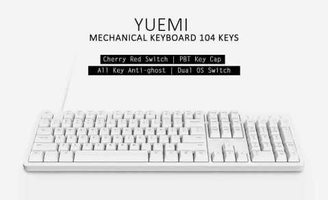 Xiaomi Yuemi MK06C Mechanical Keyboard - Xiaomi Yuemi MK06C Mechanical Keyboard Banggood Coupon Promo Code