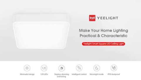 Yeelight Smart Square LED Ceiling Light - Yeelight Smart Square LED Ceiling Light Banggood Coupon Promo Code