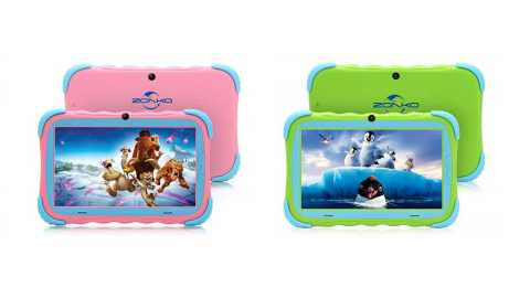 "ZONKO Kids Tablet pink - ZONKO Kids Tablet 7"" Amazon Coupon Promo Code [Pink and Green]"
