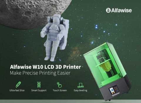 Alfawise W10 LCD SLA Resin 3D Printer