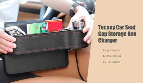 Tecney Car Seat Gap Storage Box charger - Tecney Car Seat Gap Storage Box Charger Gearbest Coupon Promo Code