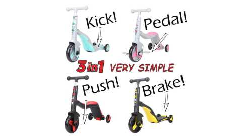 SCOOTER TUTOR 3 in 1 Convertible Scooter - SCOOTER - TUTOR! 3 in 1 Convertible Scooter Amazon Coupon Promo Code