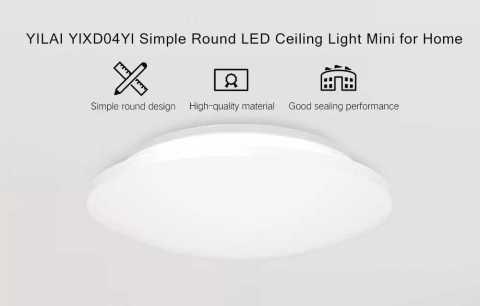 Yeelight YILAI YlXD04Yl - Xiaomi Yeelight YILAI YlXD04Yl 10W Simple Round LED Ceiling Light Banggood Coupon Promo Code