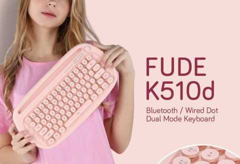 FUDE K510d Bluetooth / Wired Keyboard Gearbest Coupon Promo Code