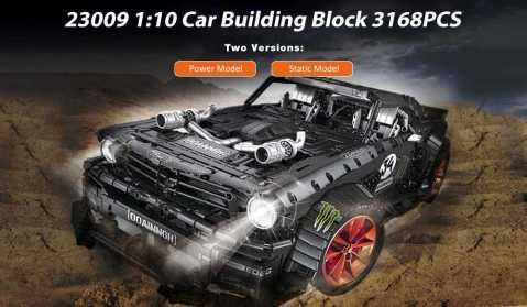 23009 1:10 car building block 3168pcs