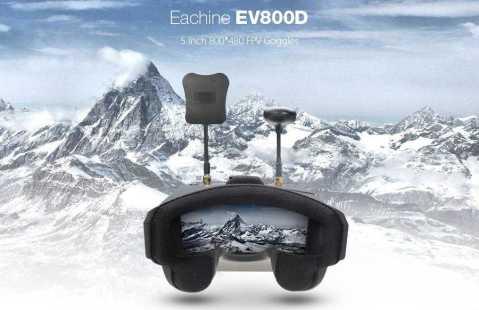 Eachine EV800D 1 - Eachine EV800D FPV Goggles Banggood Coupon Promo Code [Czech Warehouse]