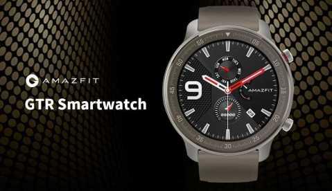 amazfit gtr smart watch titanium edition