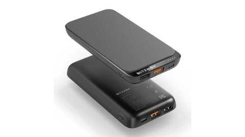 blitzwolf bw-p10 10000mah qc3.0 power bank wireless charger