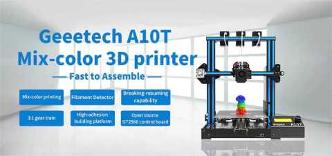 Geeetech A10T - Geeetech A10T Tricolor 3D Printer Coupon Promo Code