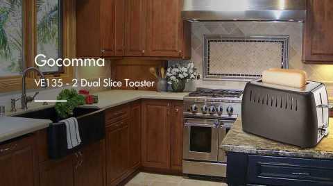 gocomma ve135 – 2 dual slice toaster